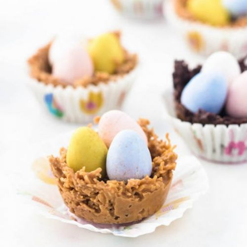 No Bake Easter Egg Nests