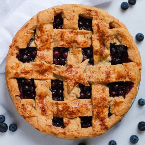 Paleo Blueberry Pie