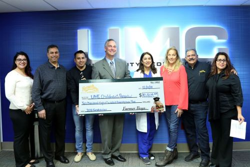 Farmer Boys' Nevada Restaurants Raise More Than $10,000 for UMC Children's Hospital