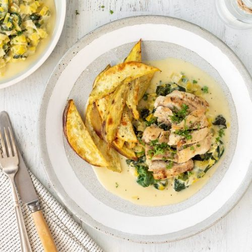 Chicken with Creamy Leeks