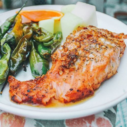 Honey Garlic & Orange Glazed Salmon