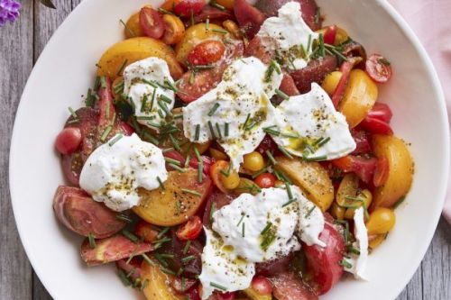 Marinated Tomato and Burrata Salad