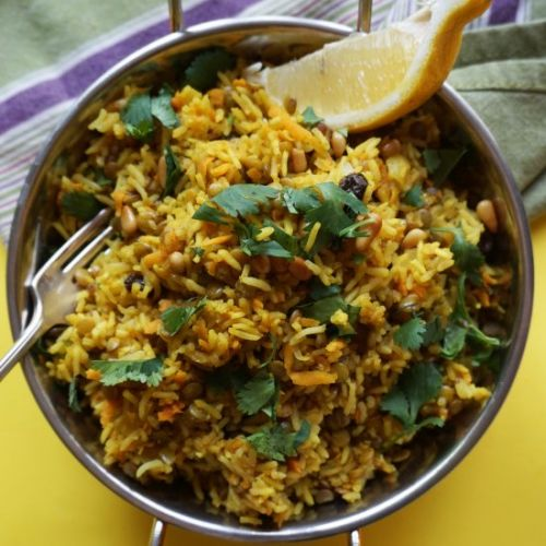 Persian Rice Pilaf with Lentils
