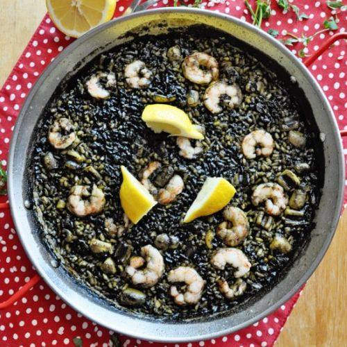 Spanish Black Rice Paella
