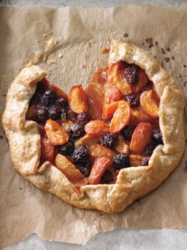 Free-Form Blackberry-Apricot Tart