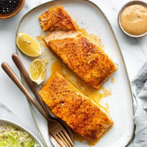 Oven Roasted Salmon with Rice