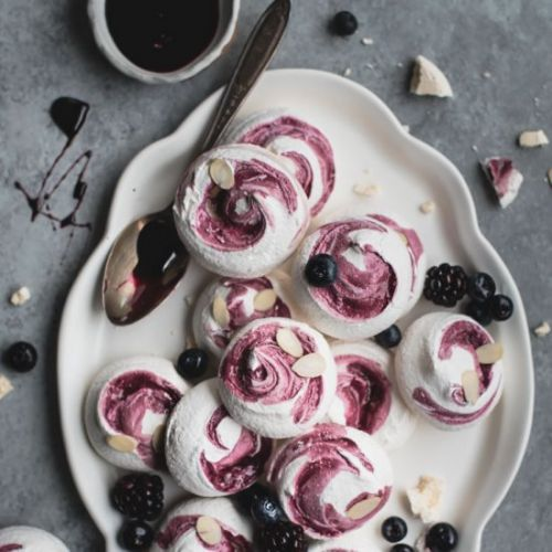 Blueberry Meringue Cookies