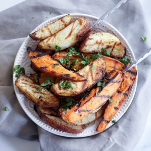 Grilled Sweet Potato Wedges