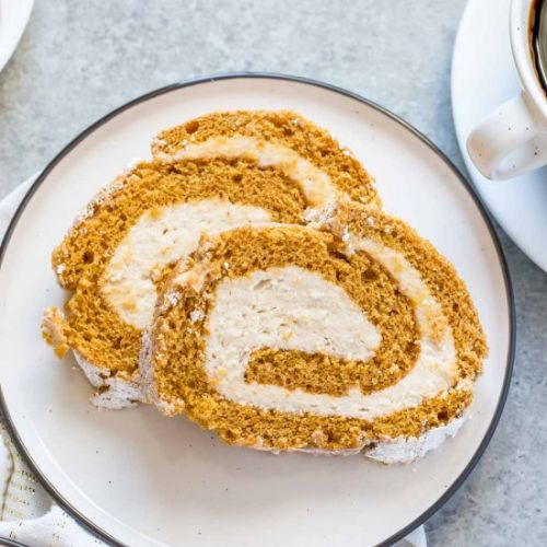 Pumpkin Cake Roll with Cookie Butte
