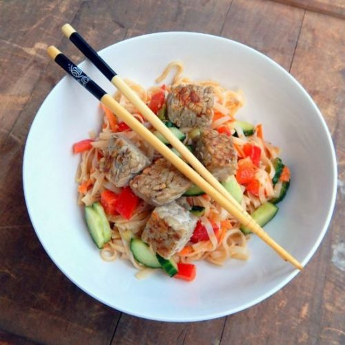 Noodle Salad with Lime and Ginger