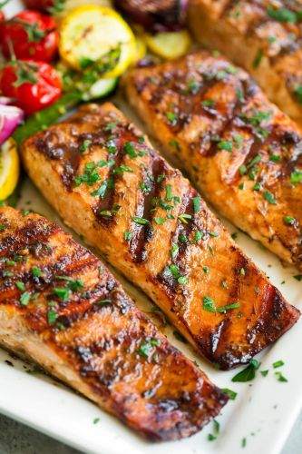 5 Ingredient Marinated Grilled Salmon