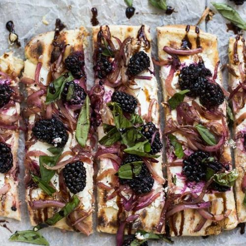 Goat Cheese Blackberry Flatbread