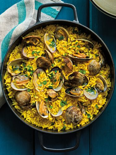 Saffron Rice with Clams