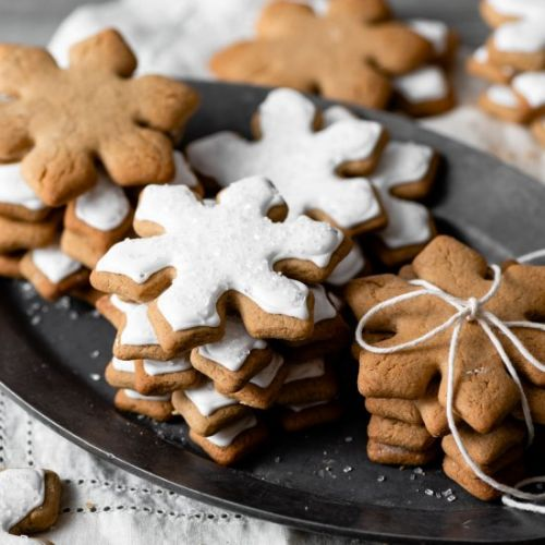 Snowflake Maple Cookies