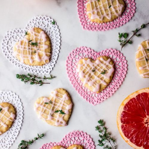 Pink Grapefruit & Thyme Hearts