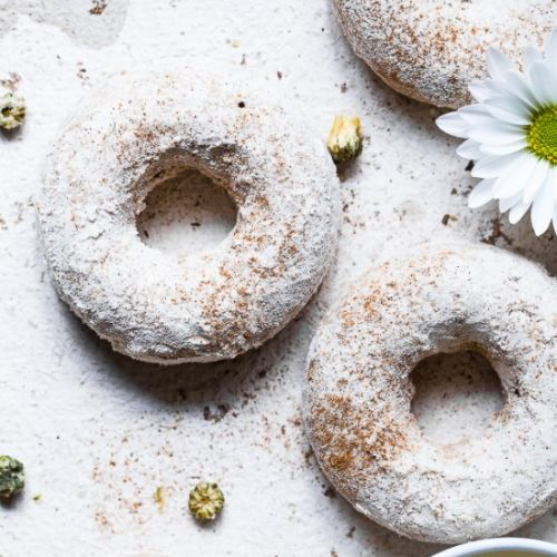 Baked Cinnamon Protein Donuts