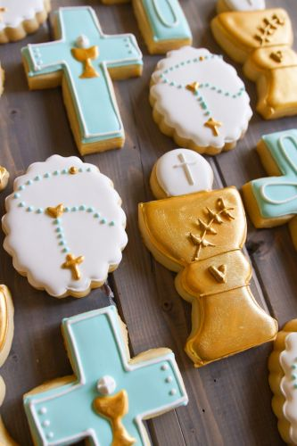 First Communion Cookie Set for Tony
