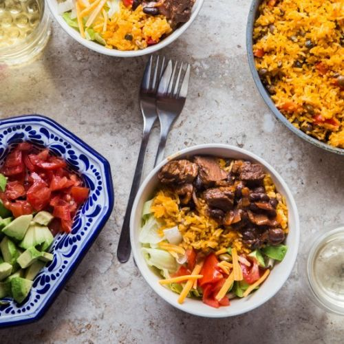 Barbacoa Pigeon Peas Rice Bowl