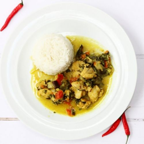 Chicken & Callaloo Curry
