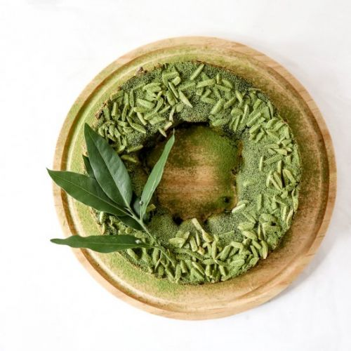 Matcha Bostock Wreath