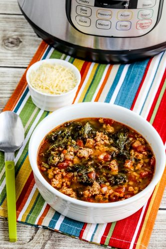 Instant Pot Sausage and Kale Soup