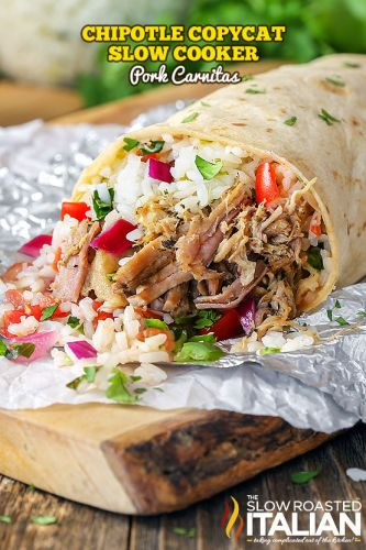 Chipotle Copycat Slow Cooker Pork Carnitas