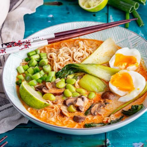 Coconut Noodle Soup with Mushroom