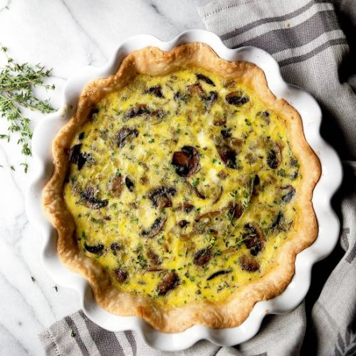 Quiche with Mushrooms and Fontina