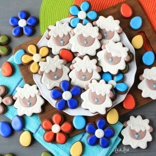 How To Make Decorated Sheep or Lamb Sugar Cookies for Easter