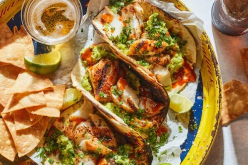 Smashed Avocado Fish Tacos