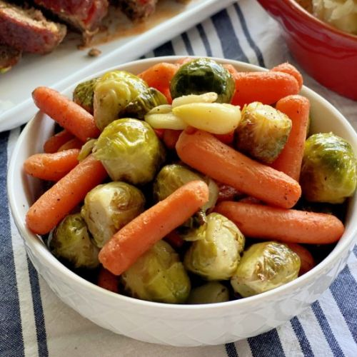 Roasted Brussels Sprouts and Carrot