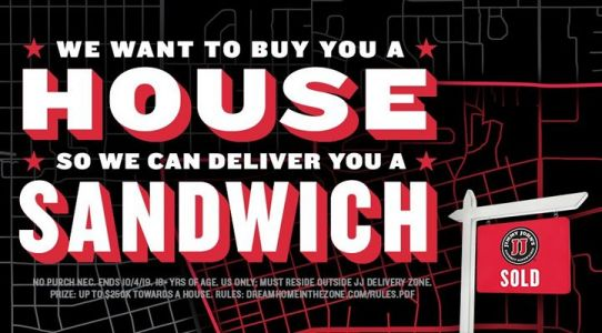 Jimmy John's Wants To Buy You A House So They Can Deliver You A Sandwich