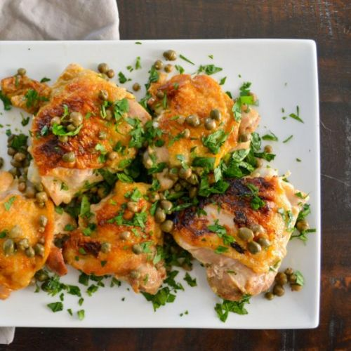 White Wine Braised Chicken Thighs
