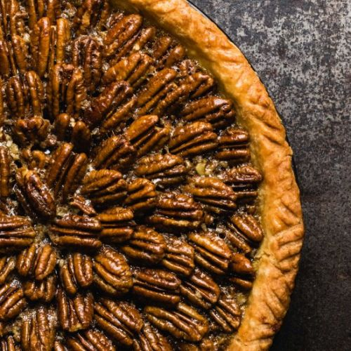 Gluten Free Maple Bourbon Pecan Pie