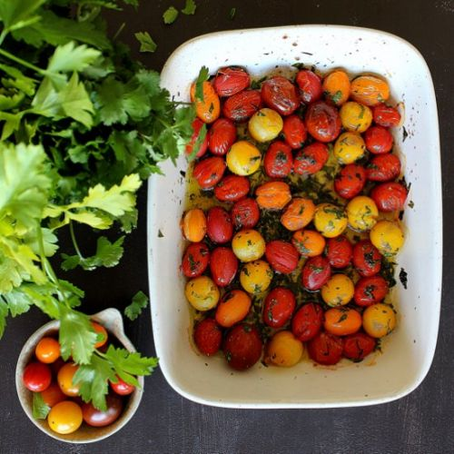 Herby confit tomatoes