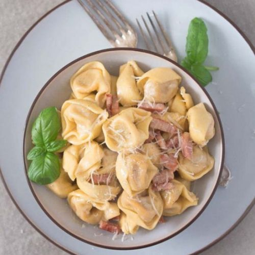 Cheese Tortellini in Cream Sauce