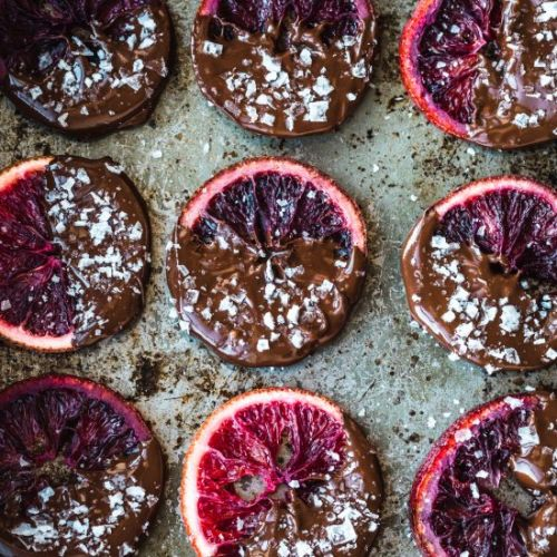 Candied Blood Oranges ~ Chocolate