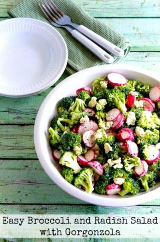 Easy Broccoli and Radish Low-Carb Salad with Gorgonzola