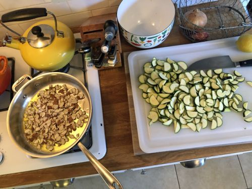 Pasta with Zucchini and Almonds