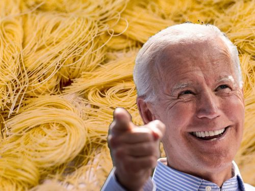 Joe Biden Just Can't Get Enough Angel Hair Pasta