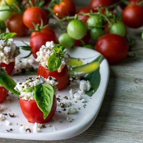 Bacon Goat Cheese Cherry Tomatoes