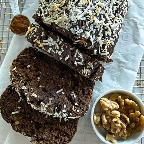 Easy Chocolate Coconut Banana Bread