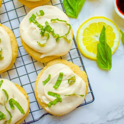 Lemon Cookies with Vanilla Frosting