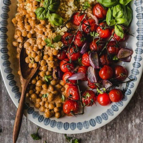 Millet with roasted tomatoes