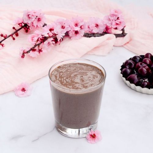 Chocolate Cherry Smoothie Milkshake