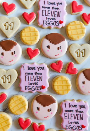 Stranger Things Valentine Decorated Cookies ♥