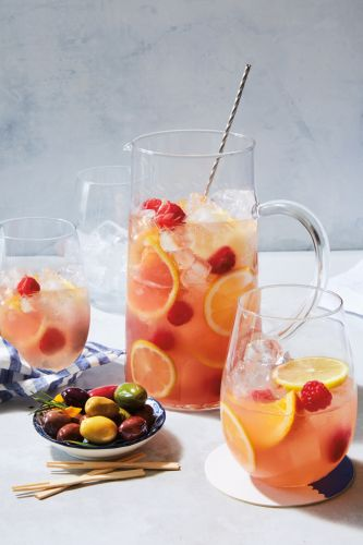Rosé Sangria with Citrus and Raspberries