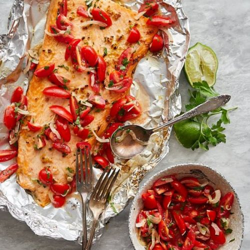 Broiled Steelhead Trout w/ Relish