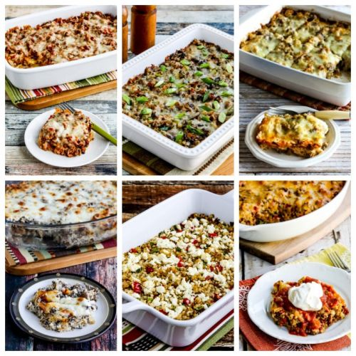 Low-Carb and Keto Casseroles with Cauliflower Rice
