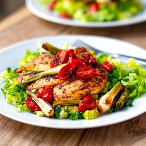 Chicken & Roast Cherry Tomato Salad